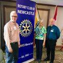 Fellow US Rotarian's Mellow and Janet Honek visit at weekly meeting